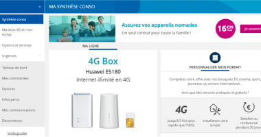 4B Box unlimited Bouygues Telecom Interface