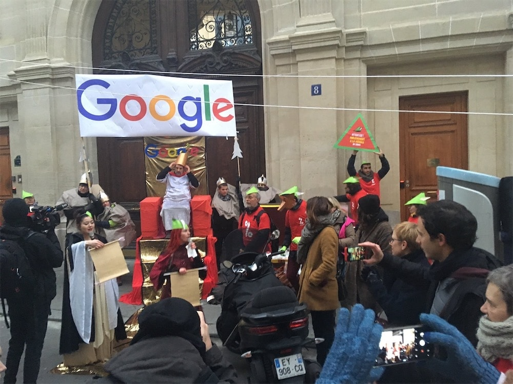 Attac plays Robin Hood with Google France