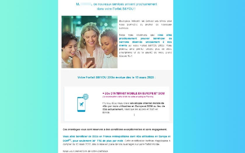 Bouygues Increases the Price of the 20 Gb Package by 60%!