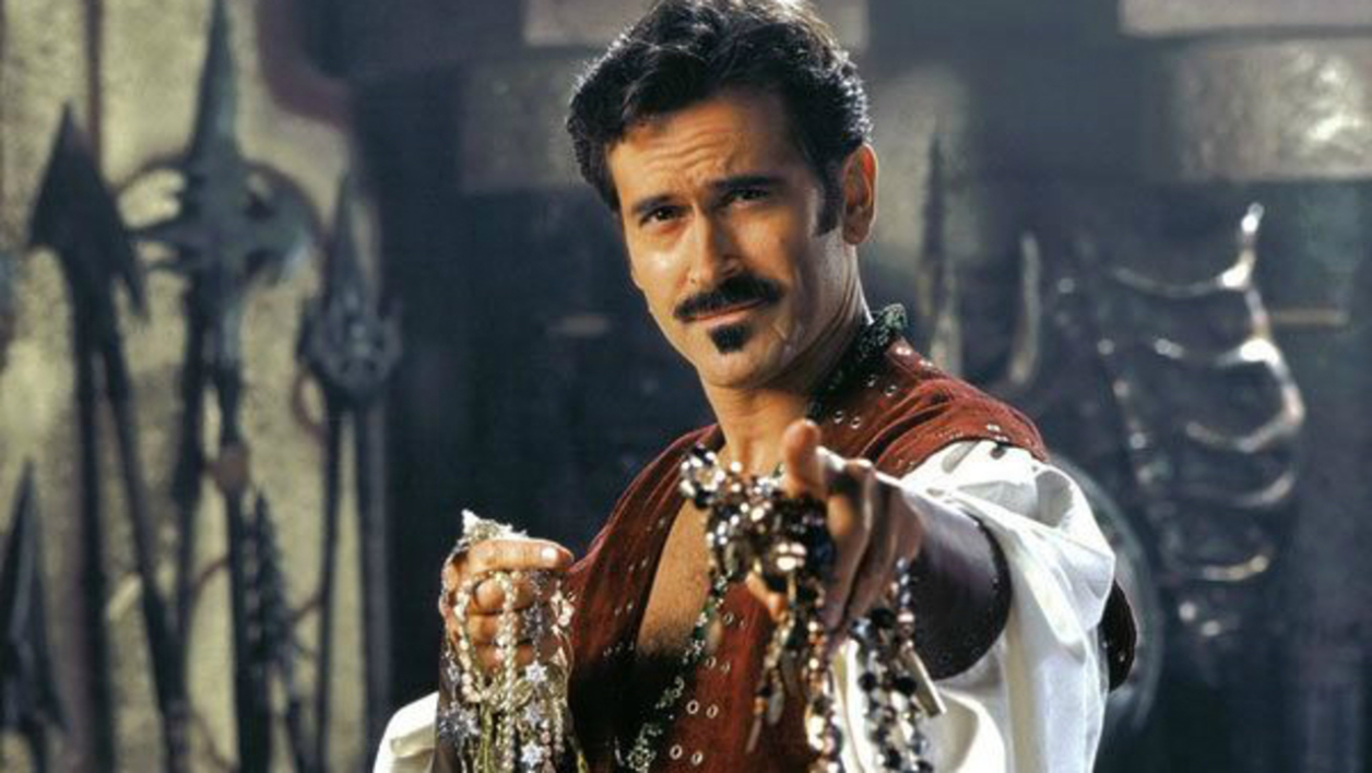 DR - Bruce Campbell as Autolycus in the series Xena La Guerrière
