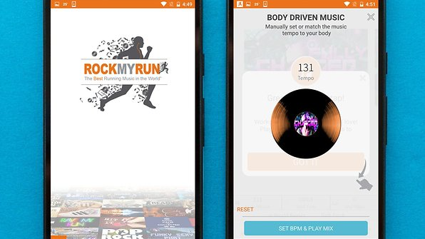 Find the DJs and genres you like with RockMyRun / © AndroidPIT