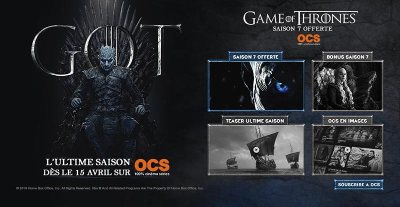 Ocs is Offering Season 7 of Game of Thrones to Orange Subscribers for Free.