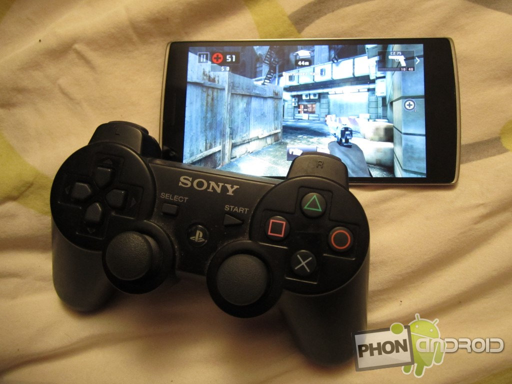 Play on Android with your PS3 controller!