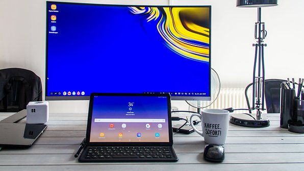The Galaxy Tab S4 can be used with a big screen for more efficiency.© AndroidPIT