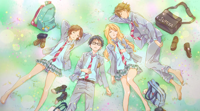 Your Lie in April, a Motion Shock Against a Backdrop of Classical Music…