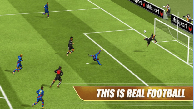 You could play it for hours but you won't be able to do an acrobatic comeback like this on Real Footbal 2013 as you'll still be looking for the button to centre.